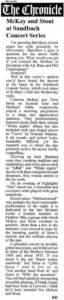 June 2011 Sandbach Chronicle rview